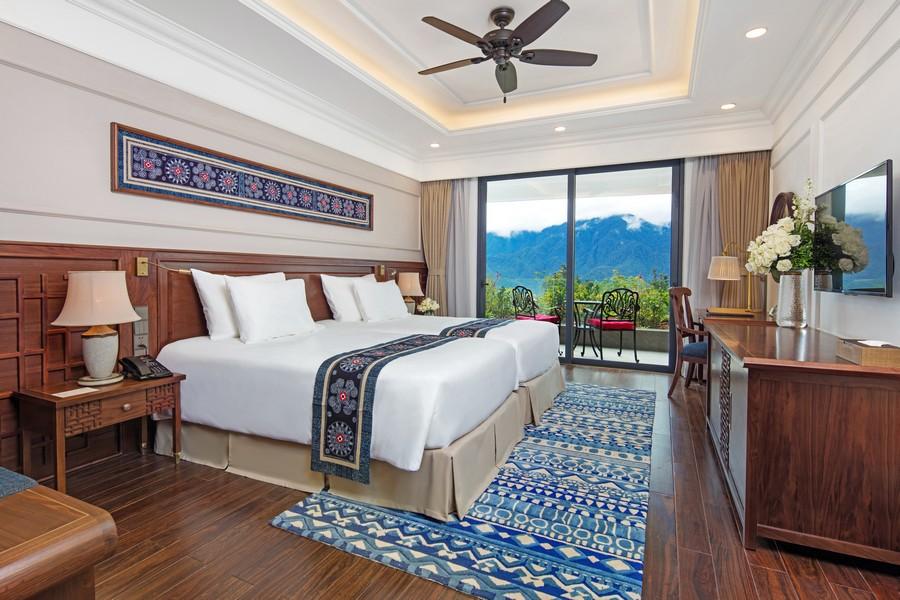 Phong cách kiến trúc Đông Dương ấn tượng trong không gian phòng nghỉ của du khách