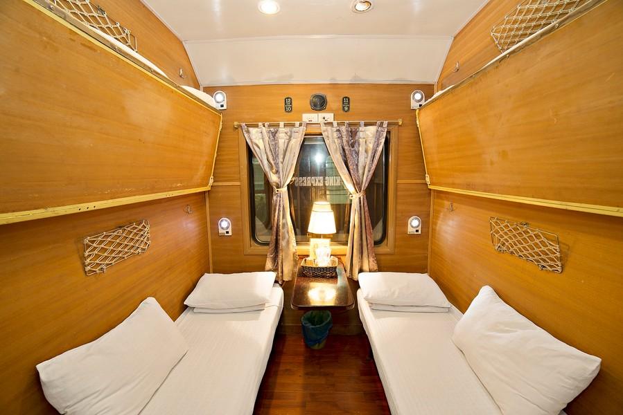 Cabin tàu hỏa đi Sapa với 2 giường ngủ