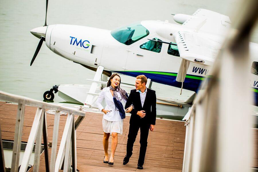 Thủy phi cơ bay ngắm cảnh Vịnh Hạ Long,