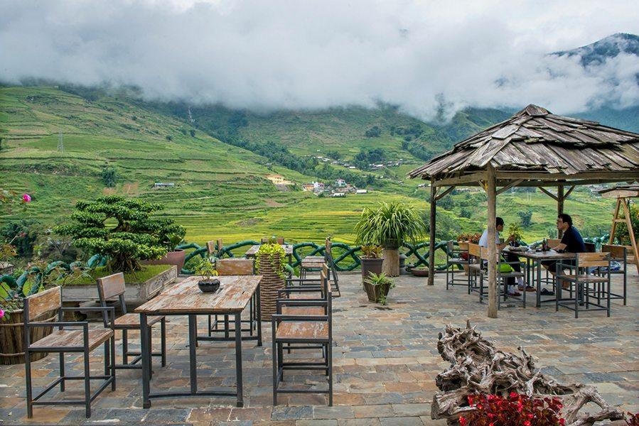 Không gian thanh bình của Lá Dao Coffee & Homestay