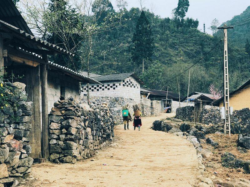 Bờ rào đá trong bản làng ở Hà Giang